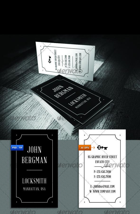 Locksmith Visit Card | Visit cards, Minimal business card and Retro ...