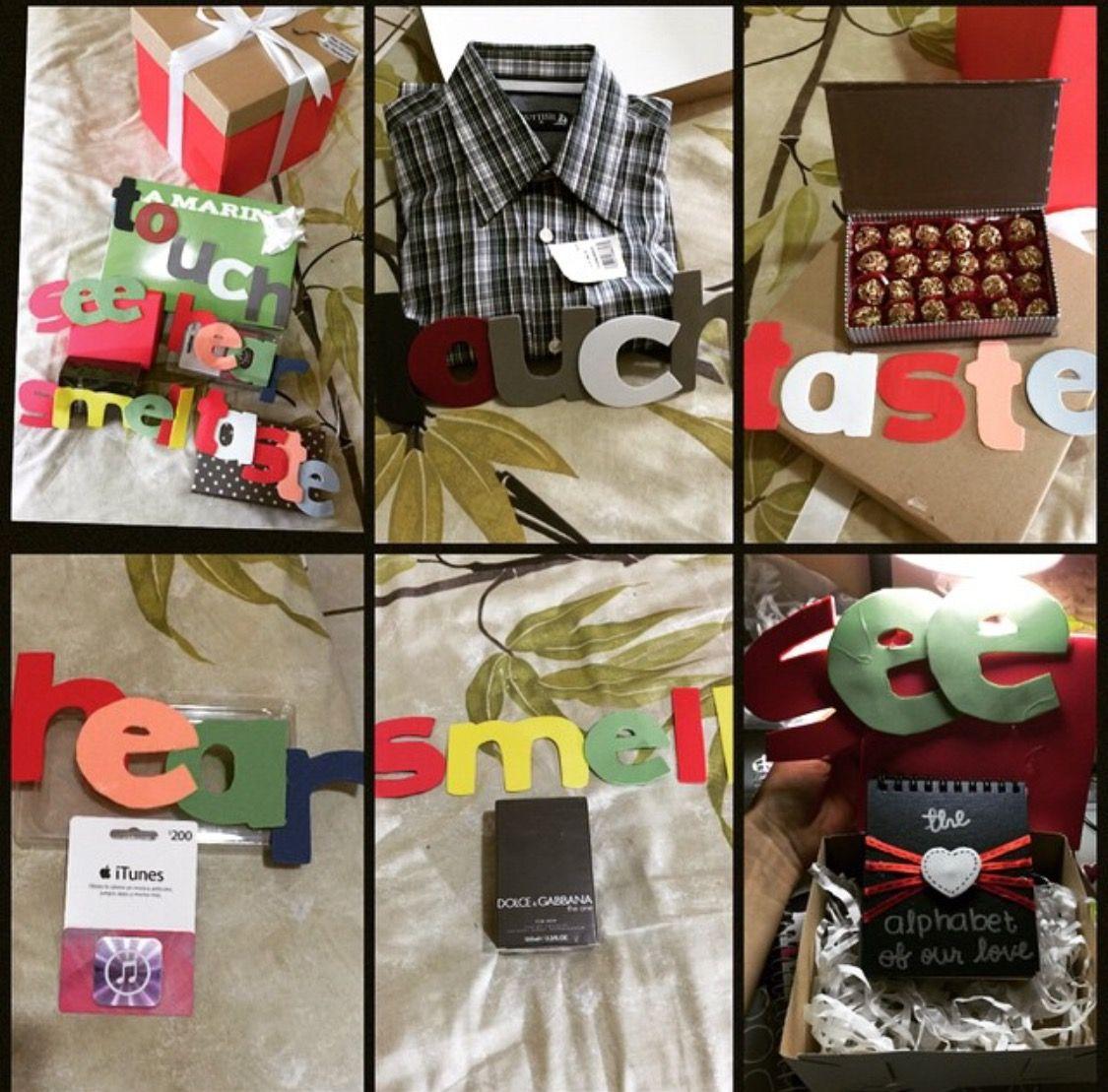 The five senses box gift boyfriend anniversary gift boyfriend anniversary valentinesday valentine negle Images