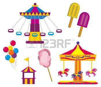 Fete Foraine Banque D Images Vecteurs Et Illustrations Libres De Droits Foraine Parc D Attraction Illustrations