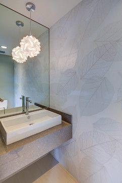 Tropical Mid Century Modern - Contemporary - Powder Room - hawaii ...