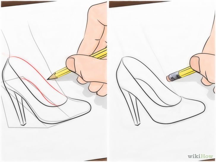 Como Dibujar Zapatos De Mujer Paso A Paso Buscar Con Google Como Dibujar Zapatos Dibujos Faciles De Disney Zapatos