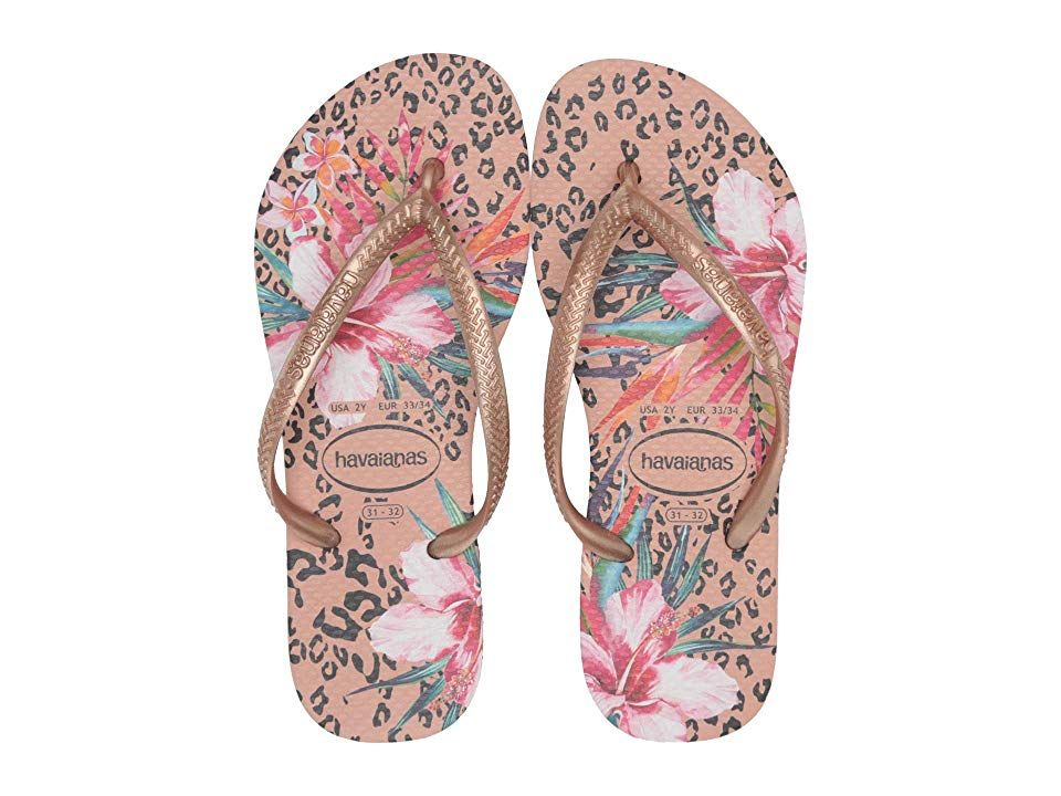 Havaianas Girls Slim Animals Flip Flops