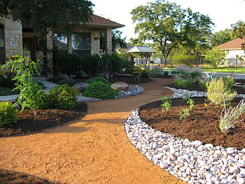 Austin Residential Landscape Photos | Austin Landscape Supplies >> Love the  use of different hardscapes as permeable garden lines and elements - Austin Residential Landscape Photos Austin Landscape Supplies