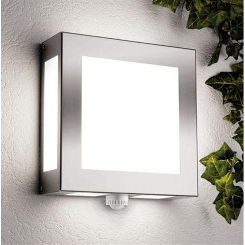 edelstahl au enleuchte quadratisch mit bewegungsmelder lampe outdoor pinterest. Black Bedroom Furniture Sets. Home Design Ideas