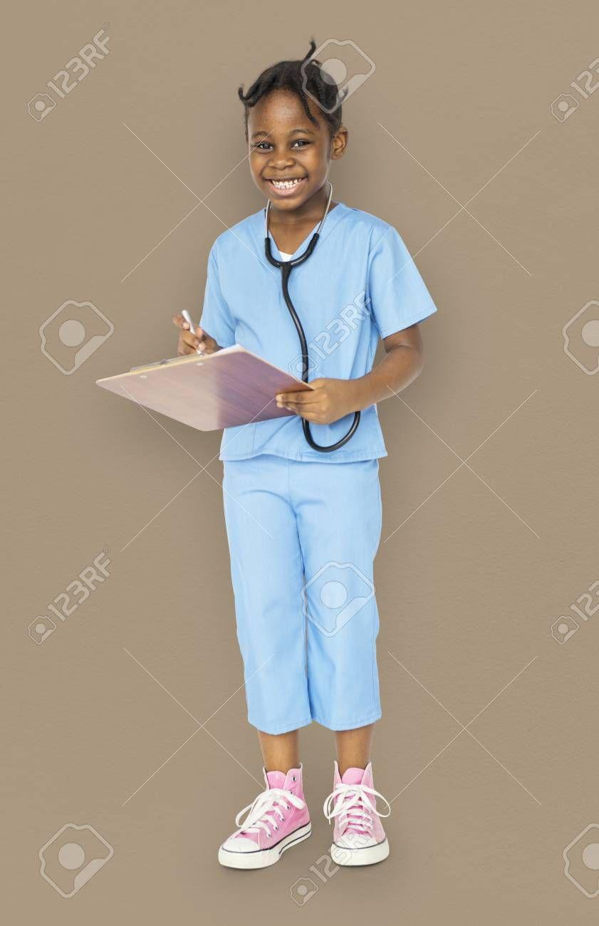 Little Girl With Doctor Dream Job Smiling Sponsored Doctor Girl Dream Smiling Job Girl Fashion Dream Job