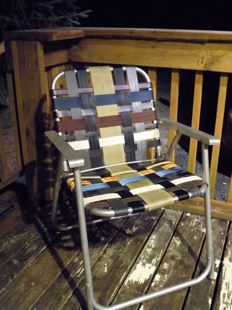 Refurbish An Old Folding Lawn Chair With Seatbelt Webbing And Belts Belt Recycled