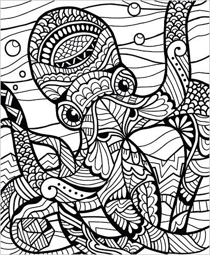 Colorit Wild Animals Coloring Book Premium Hardcover With Top Spiral Binding Grown Up Color Mandala Coloring Pages Animal Coloring Books Animal Coloring Pages
