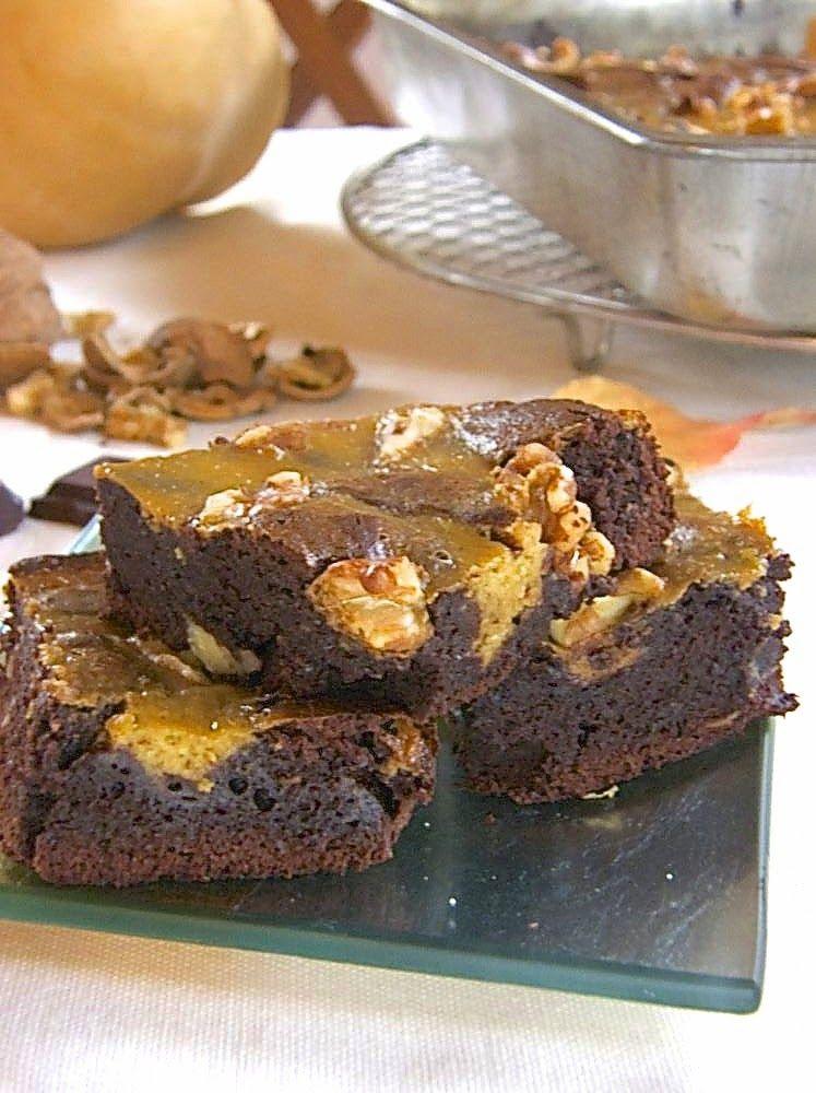Kurbis Walnuss Brownies Herbstliche Verfuhrung Mit Biss