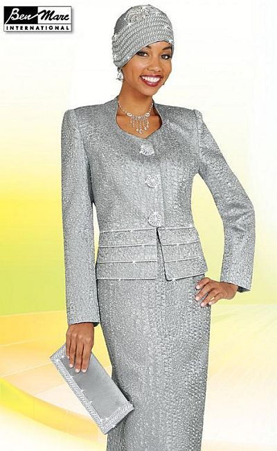 7ec76cb95b2 Check out the deal on Ben Marc Silver Womens Church Suit 4533 at French  Novelty