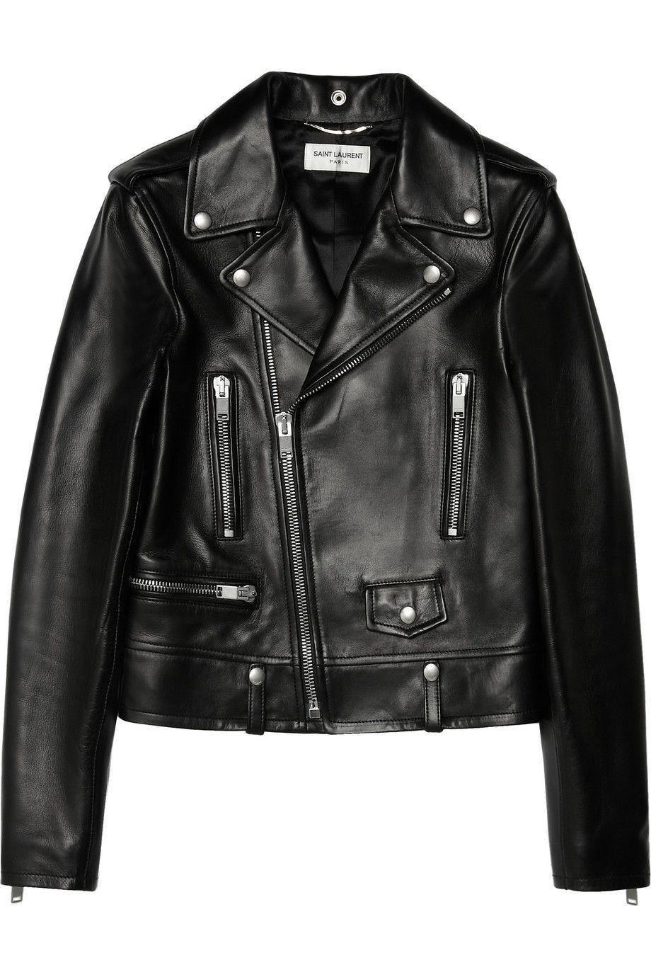 Saint Laurent Leather Biker Jacket As Seen On Rosie Huntington Whiteley
