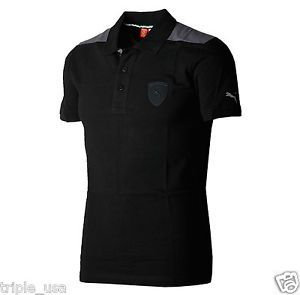Black Scuderia Ferrari Puma Polo Shirt Large - Mens