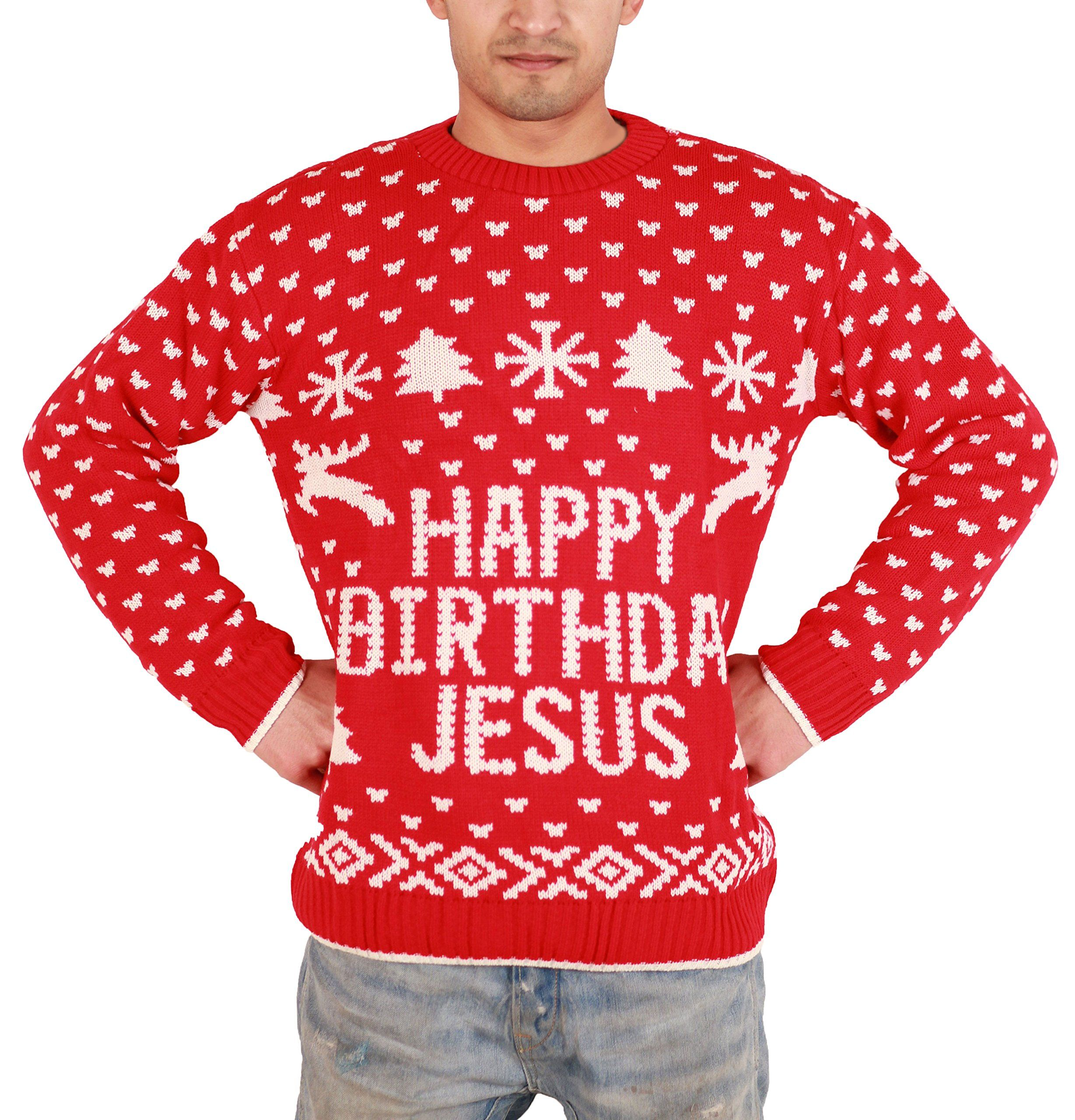 Happy Birthday Jesus Ugly Christmas Sweater /Knitted Jumper | The ...