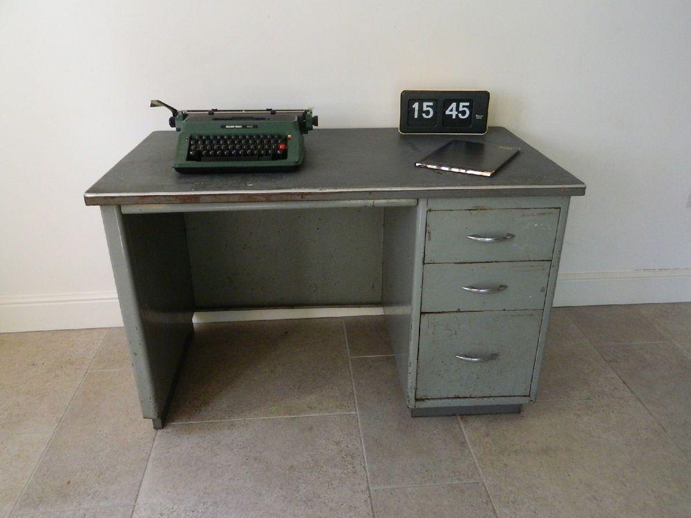 vintage steel furniture. Stunning Vintage 1950s Industrial Steel Desk Mid Century Modern | EBay Furniture T