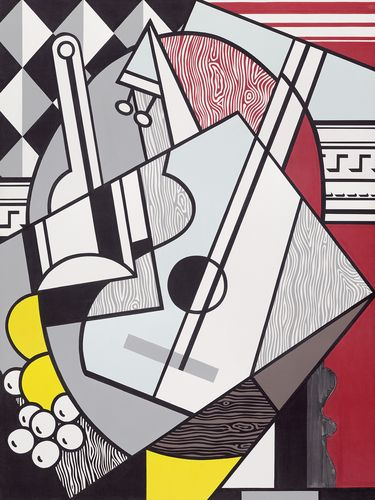 Pablo Picasso was Lichtenstein's hero, says National Gallery curator Harry Cooper. Lichtenstein painted his Picasso-inspired Cubist Still Life in 1974.