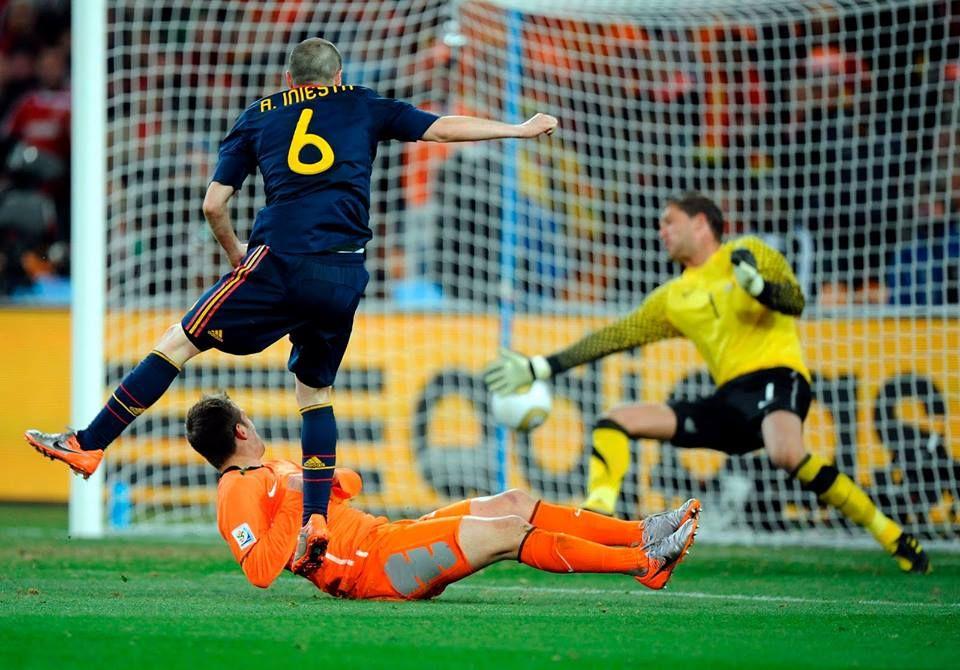 #Gol de #campeonato mundial, Andres #Iniesta vs Maarten #Stekelenburg, #Sudafrica2010