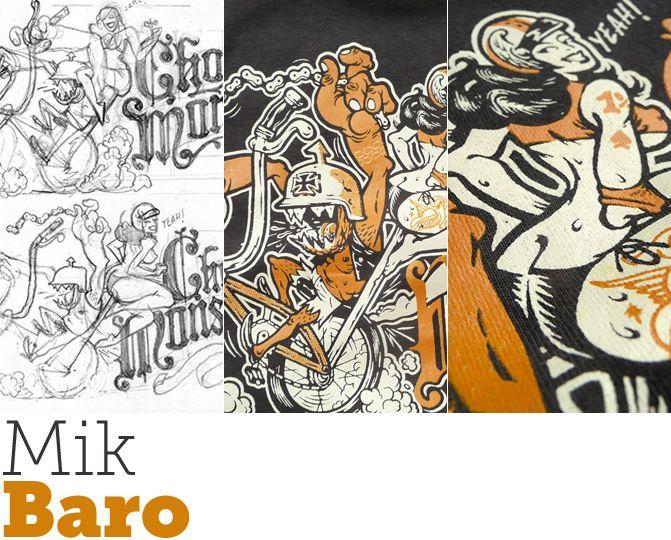 Il·lustra'ns, Mik Baro! | Mik Baro és un dissenyador valencià especialista en la il·lustració d'estètica rock Els seus dibuixos i dissenys han omplert de cartells i flaiers milers de locals i bars de concerts d'arreu. Festivales com Surforama, Funtastic Drácula Carnival i els discs de grups com Los Chicos, Wuau y los Arghss!!, Doctor Explosión, Lagartija Nick i molts altres, porten la seva empremta. Recomanem els cartells d'esdeveniments i festivals fets totalment a mà. #illustration