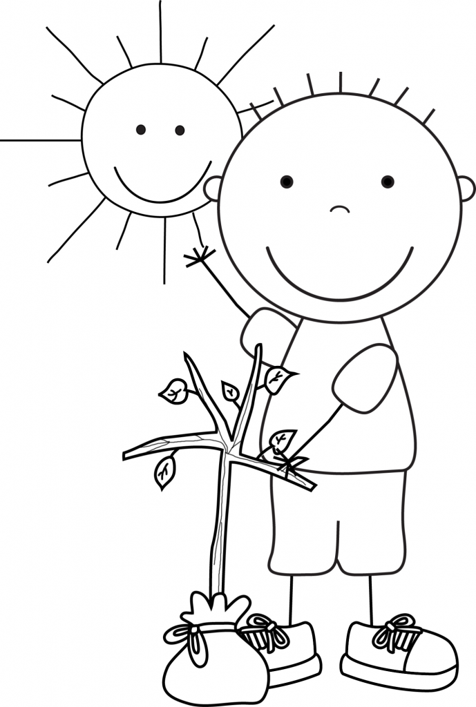 Kid Color Pages Earth Day for