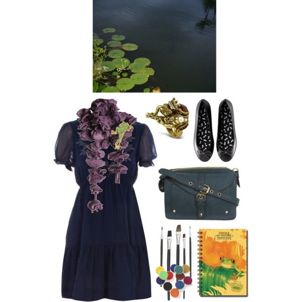 The+Amphibian+Artist+by+azurafae+on+Polyvore+featuring+Dorothy+Perkins,+H&M,+Miss+Selfridge,+Alcozer+&+J,+1928,+bags,+nature,+shoes+and+jewelry