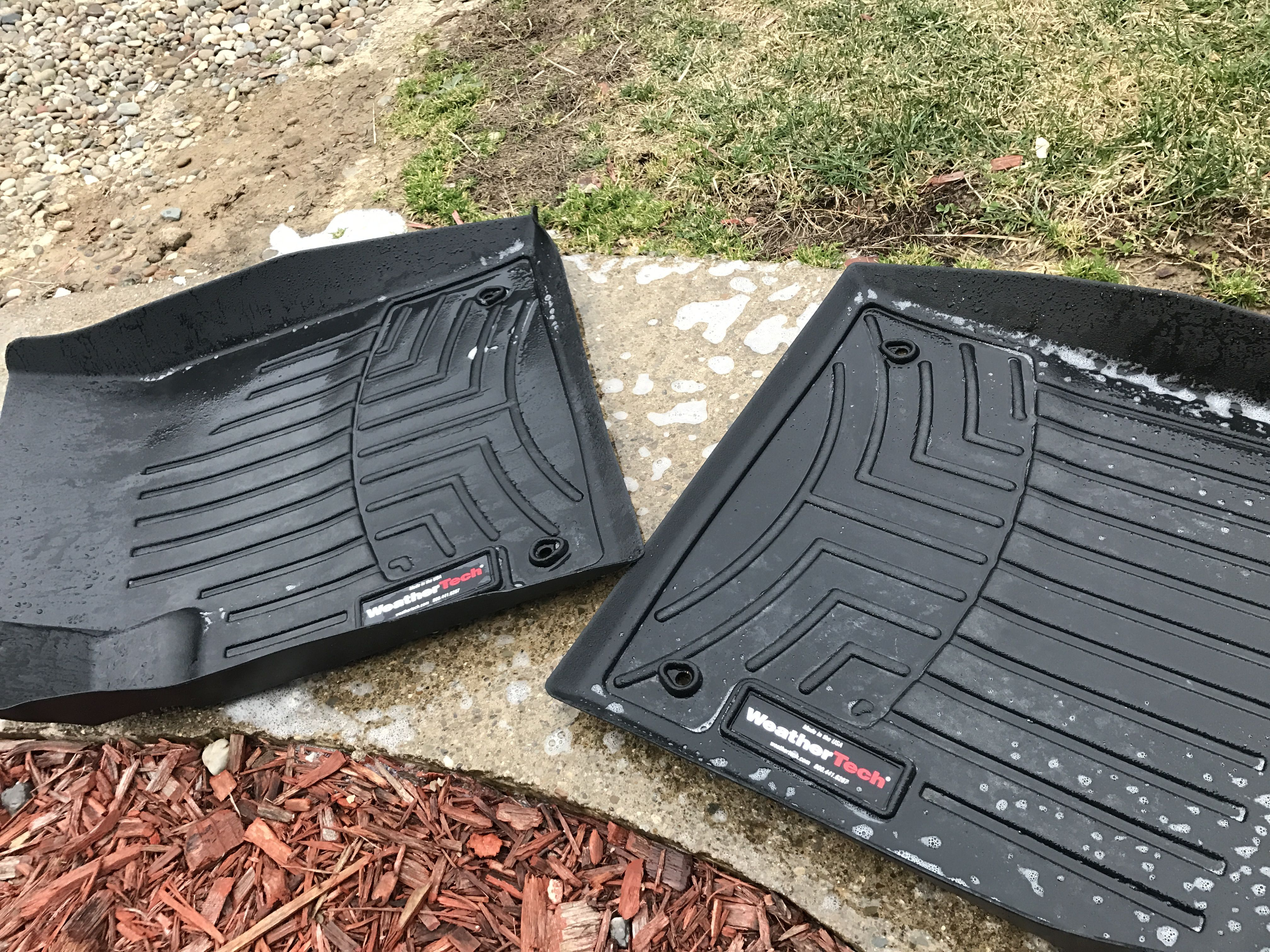Cleaning my weather tech floor mats for my dart weather