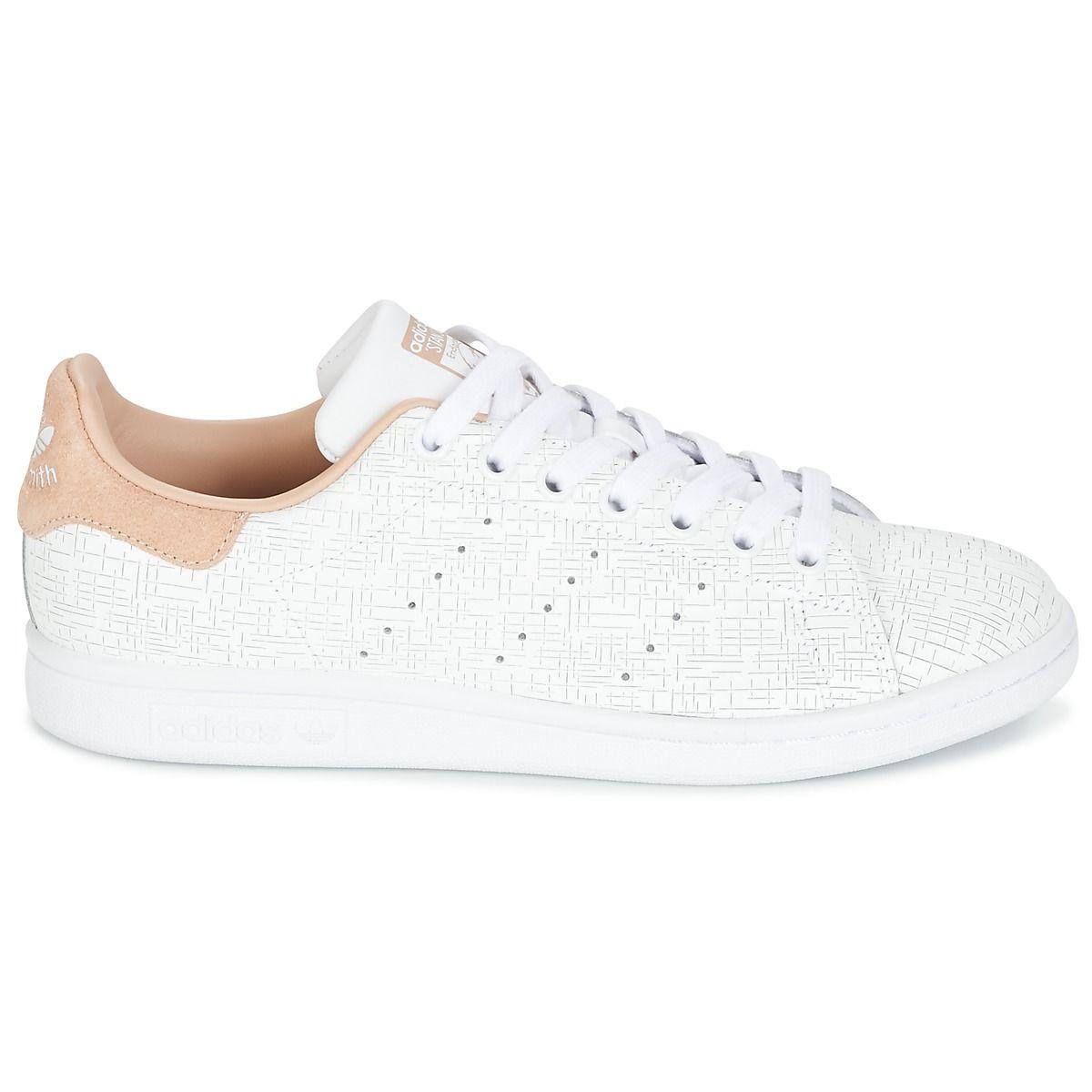 ADIDAS ORIGINALS - Sneakers STAN SMITH W - Bianco / Rosa ...