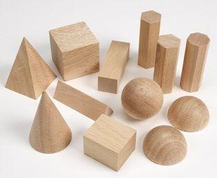 basic wooden geometric figures