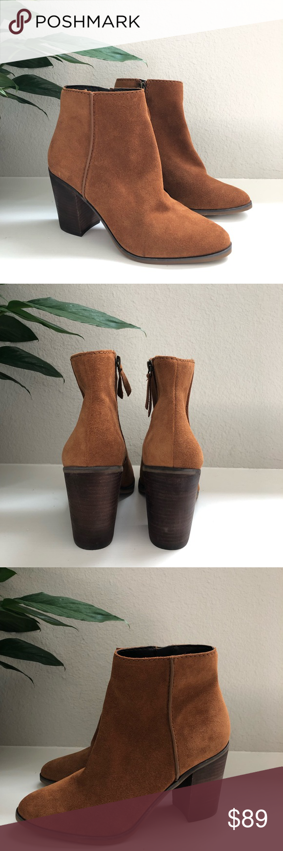 ALDO SUEDE ANKLE BOOTIES A cool zippered ankle boot made for cool weather from Aldo , this block heel bootiesare perfect with pencil skirts and skinny jeans .    Features: Ankle boot Round toe Block heel Zipper closure Cognac color  New without Box Aldo Shoes Ankle Boots & Booties #skinnyjeansandankleboots ALDO SUEDE ANKLE BOOTIES A cool zippered ankle boot made for cool weather from Aldo , this block heel bootiesare perfect with pencil skirts and skinny jeans .    Features: Ankle boot Round toe #skinnyjeansandankleboots
