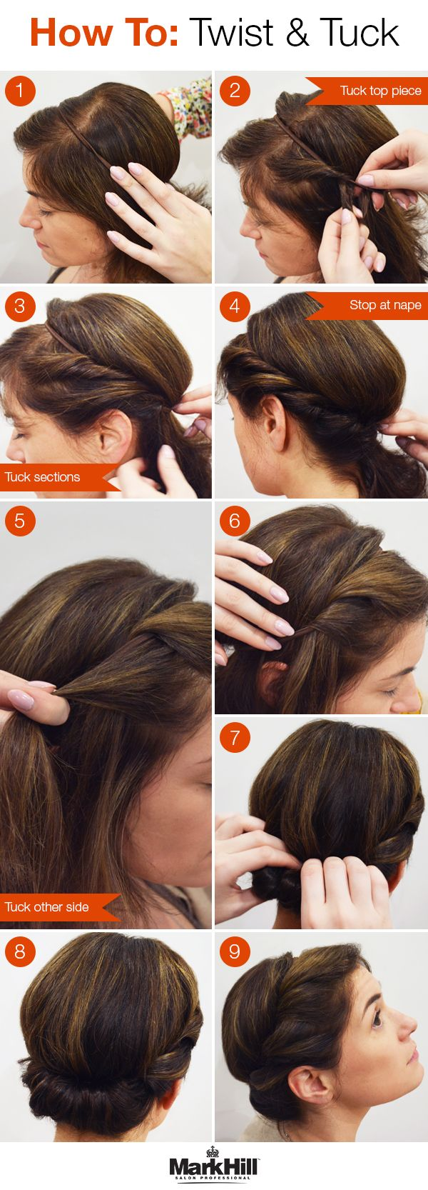 A genius trick to getting an awesome up do —all you need is a thin elastic headband.