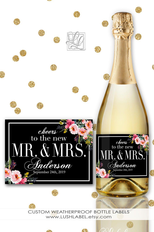 Cheers to the New future Mr and Mrs Wine Champagne Mini Toast New ...