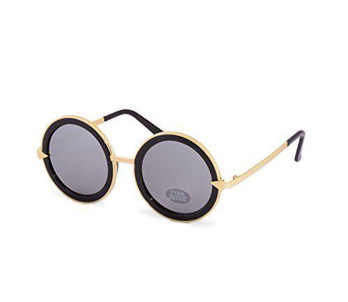 acdb2e3a48f637 NEW UNISEX (Damen Herren) Retro WAYFARER Round Gold Spiegel Mirror  Sonnenbrille Clubmaster Brille SUNGLASSES Shades UV400 Protection  Morefaz(TM) (Retro ...