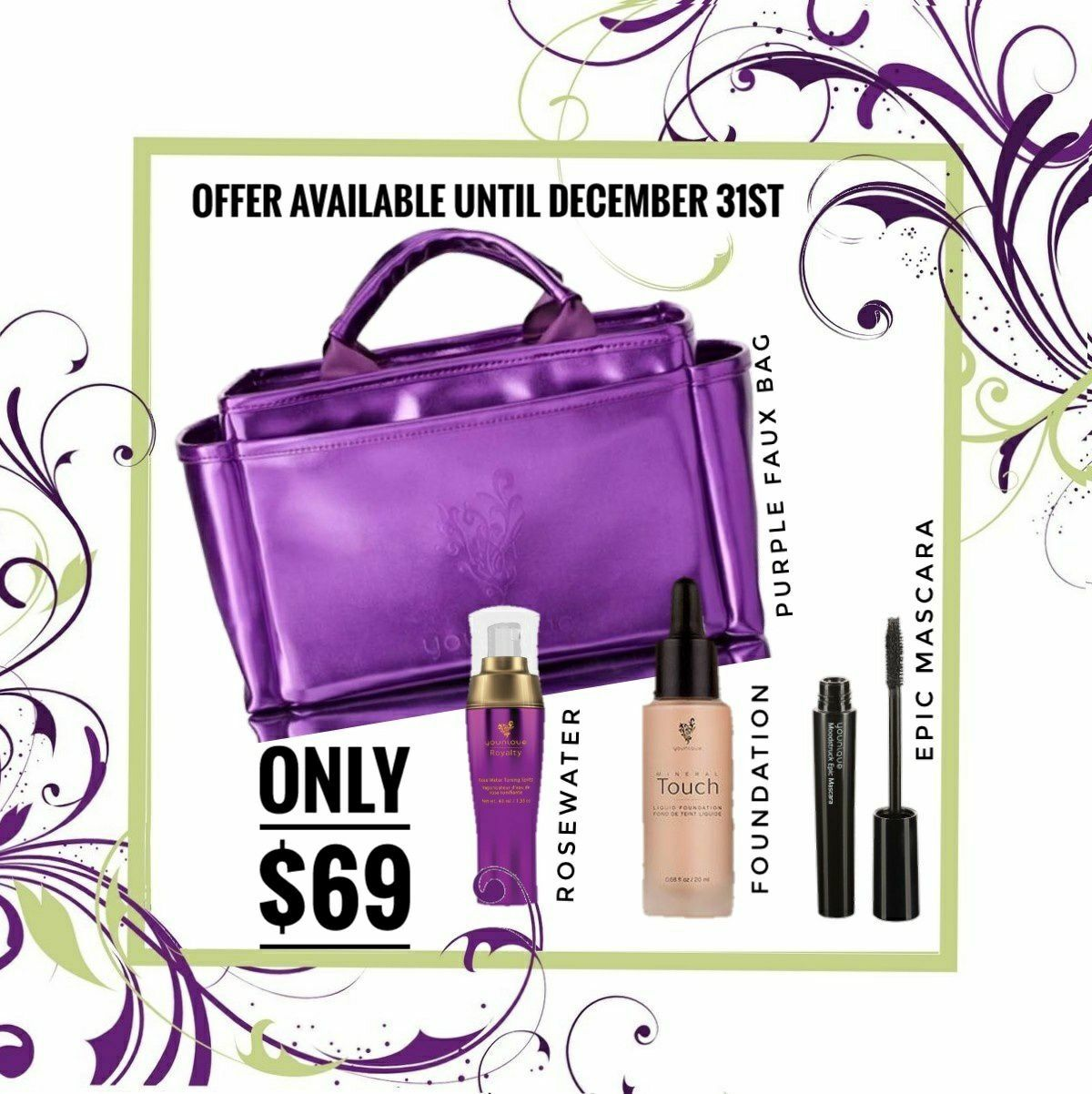 Pin by Tara Kemp on Younique Leather makeup bag, Purple