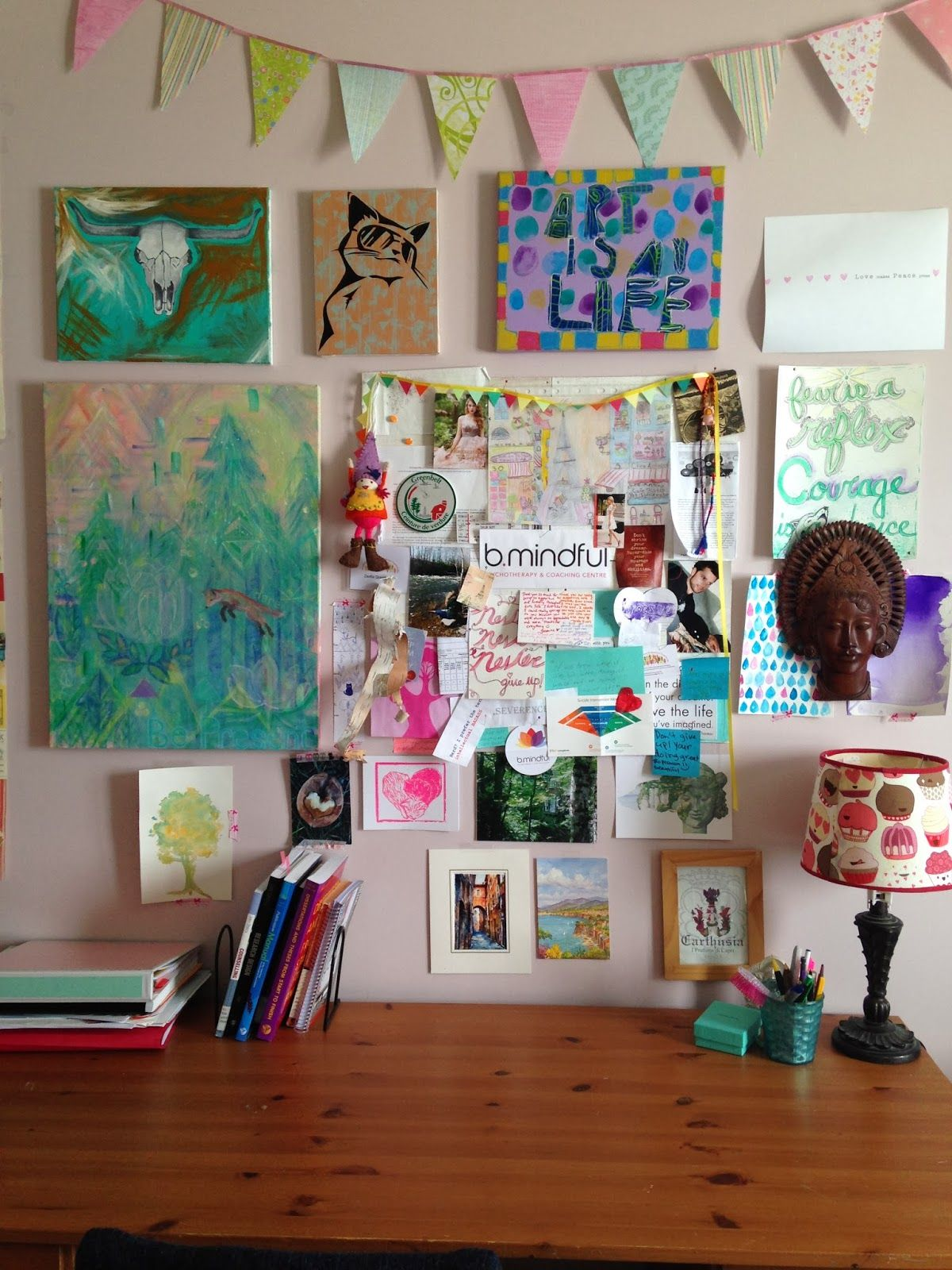 Studio hipster room blog wanders spills full of home for Diy bulletin board for bedroom