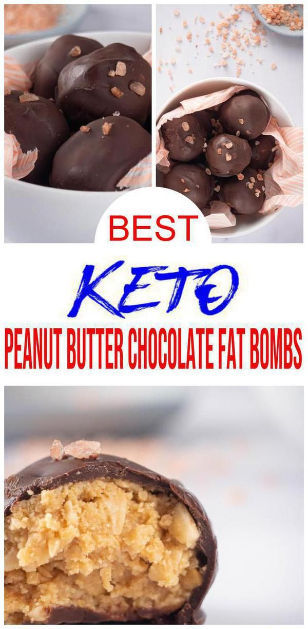 5 Ingredient Keto Peanut Butter Chocolate Fat Bombs – BEST Chocolate Peanut Butter Fat Bombs – NO Bake – Easy NO Sugar Low Carb Recipe Tasty Keto Peanut Butter Chocolate Fat Bombs you DO NOT want to pass up! 5 ingredient keto low carb chocolate peanut butter fat bombs. Easy & simple keto recipe for the best chocolate fat bombs. Delicious homemade not store bought DIY keto fat bombs - healthy, gluten free & sugar free. Keto desserts or keto snacks for those sweet treat cravings. Check out this keto food recipe :)