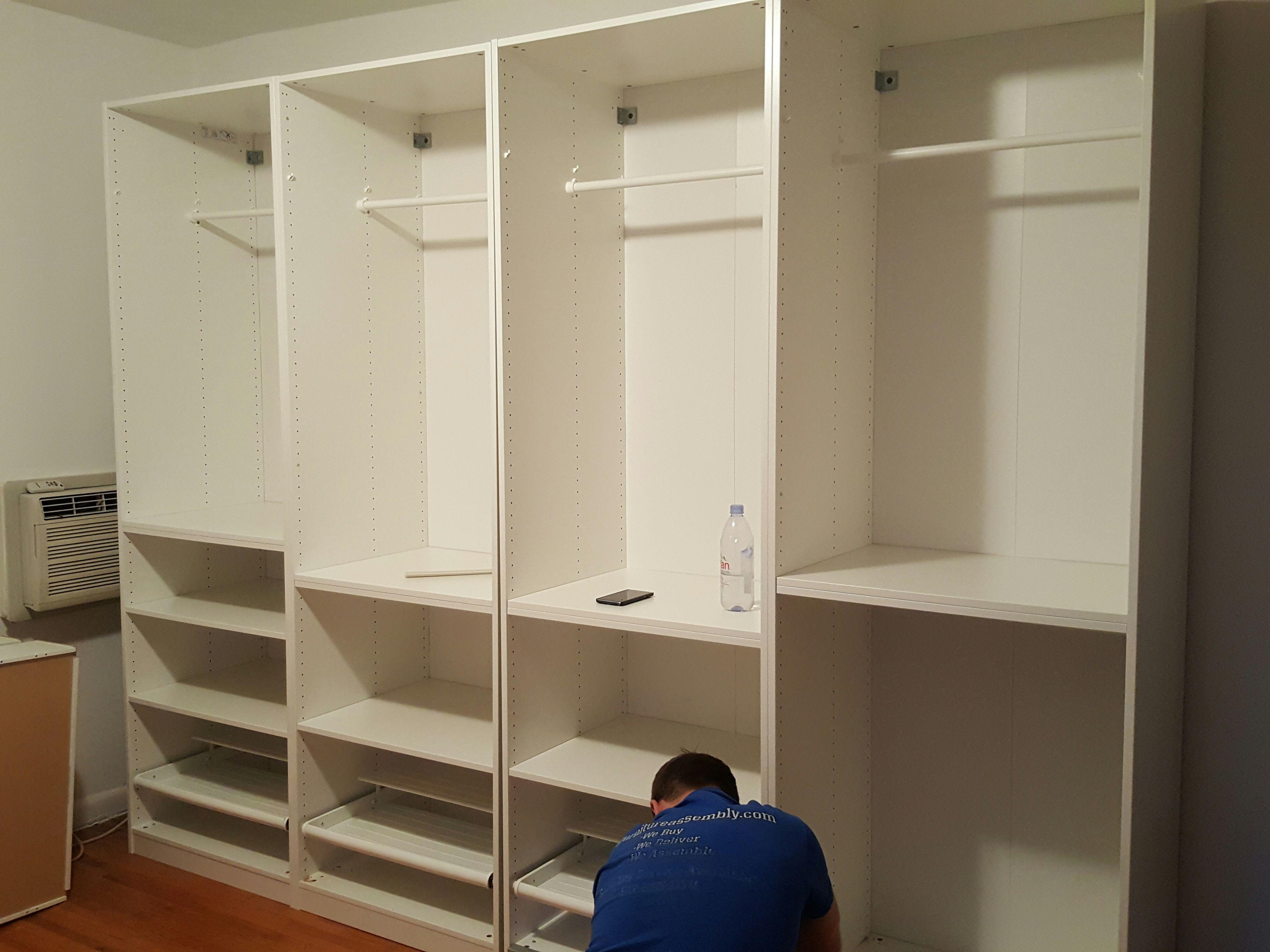 installation of ikea pax system ifurnitureassembly Furniture