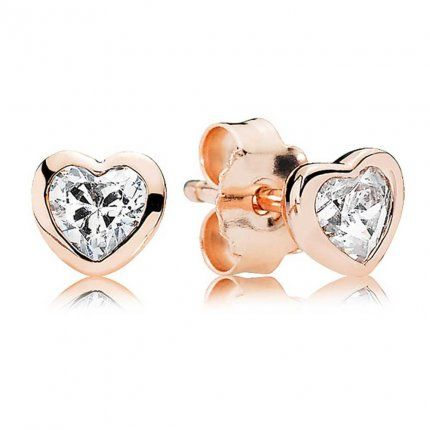 Pandora Classic Heart Rose Stud Earrings U090 Ahhhh Jewelry In