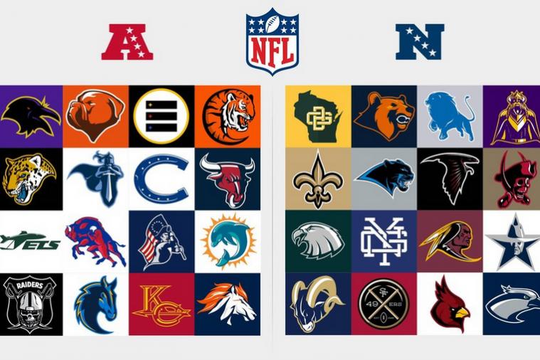 Redesigned Logos for Every NFL Team Nfl logo, Football