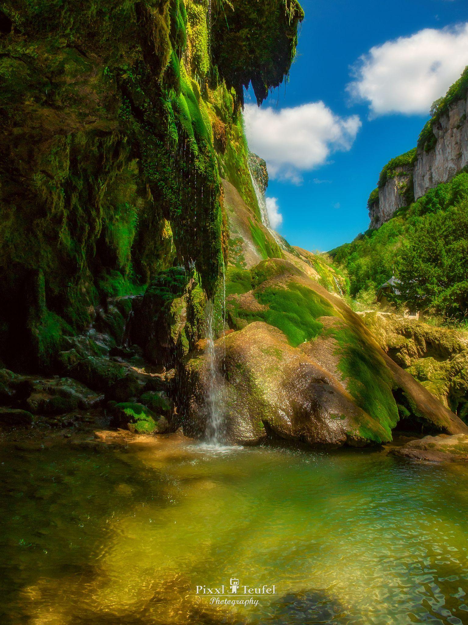 Fresh Green Fresh Green On A Waterfall In Jura France