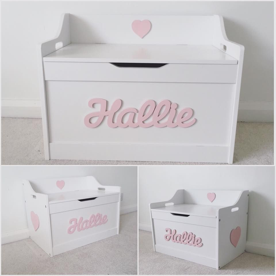 Personalised Toy Box Love Unique Personal Britische Babynamen Babynamen Kinder Zimmer