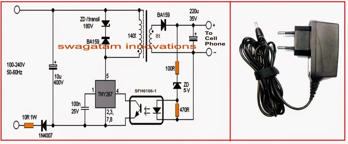 Make Your Own 220v Cell Phone Charger Electrical Engineering Blog Cell Phone Charger Cell Cell Phone
