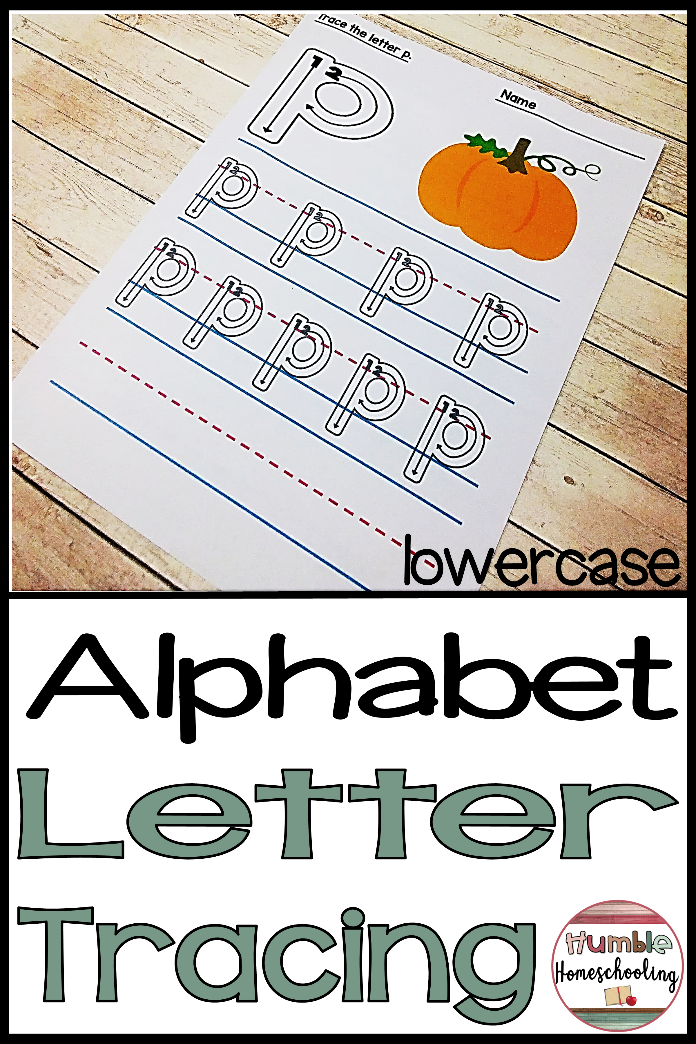 Alphabet Letter Tracing Lowercase