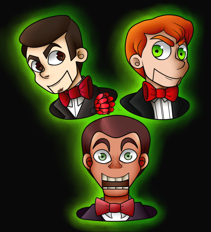 The Three Slappys By Laughterlover On Deviantart Slappy The Dummy Horror Movie Characters Goosebumps