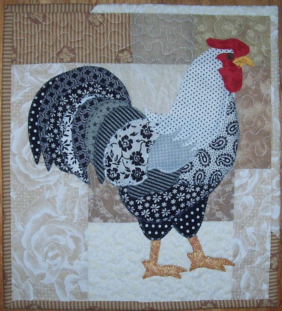 Rooster Applique Mini Quilt Applique Quilt Patterns Animal