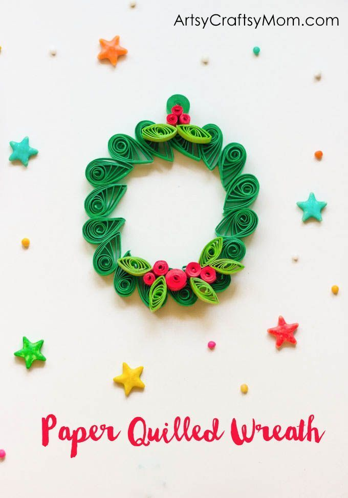Easy Christmas Ornament - Paper Quilled Wreath Easy christmas