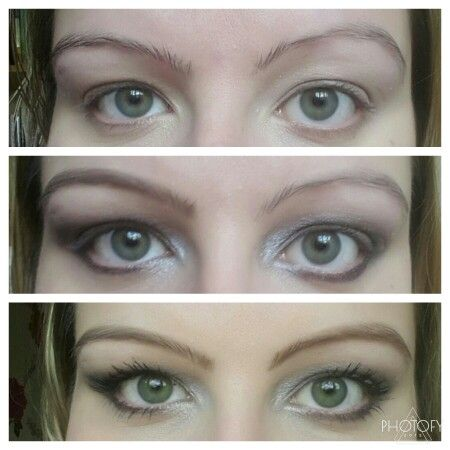 Eyebrow transformation using the Younique brow kit in Medium. Contains a pencil, brush and brow gel.