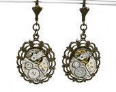 What a cute steampunk inspired pair of earrings!