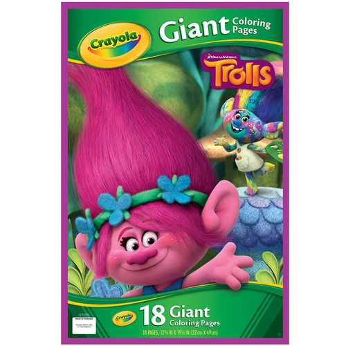 Crayola DreamWorks Trolls Giant Colouring Book | TROLLS | Pinterest ...