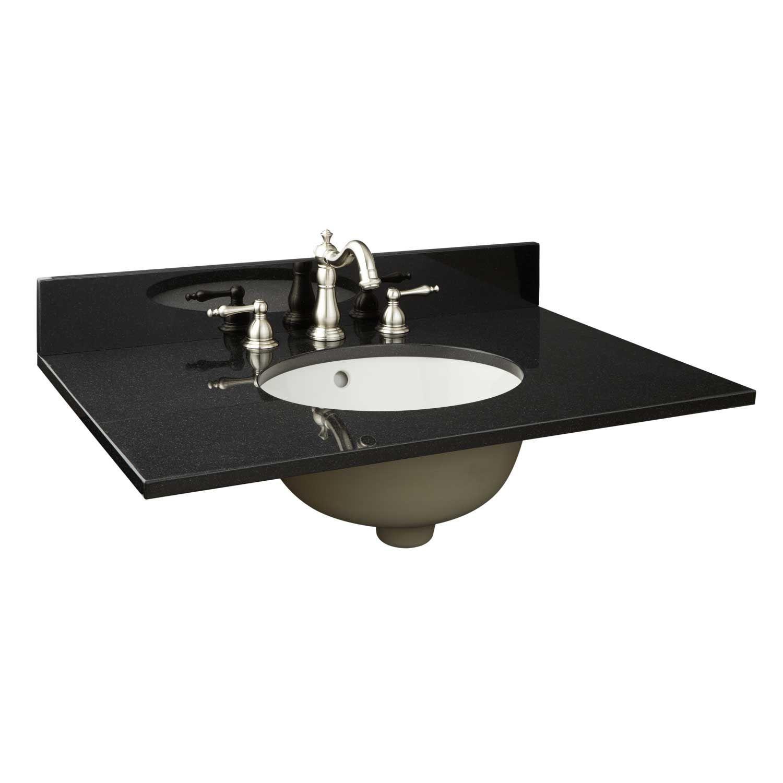 31 X 19 Narrow Granite Vanity Top For Undermount Sink 1 Faucet