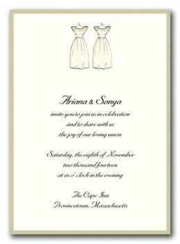 same sex wedding invitation ideas in Hamilton