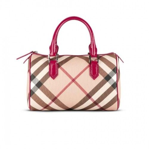Burberry Nova Check Bowling Bag Raspberry Sorbet cheap for ...