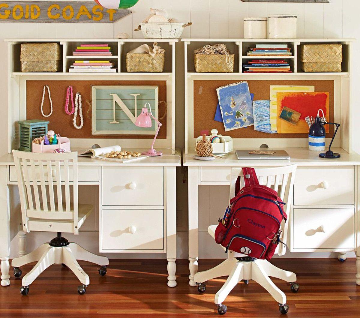 Kids Desk Ideas Catalina Storage Desk & Large Hutch  Pottery Barn Kids Australia