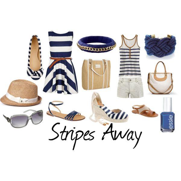 Stripes Away, created by vpaneva on Polyvore